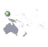 Pacific map with Palau Stock Photography