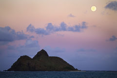 Pacific moonrise royalty free stock photo