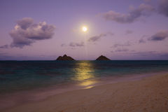 Pacific moonrise royalty free stock photos