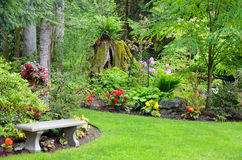 Pacific northwest garden Stock Photos