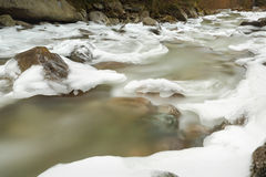 Pacific Northwest, Icy Winter River Stock Photo