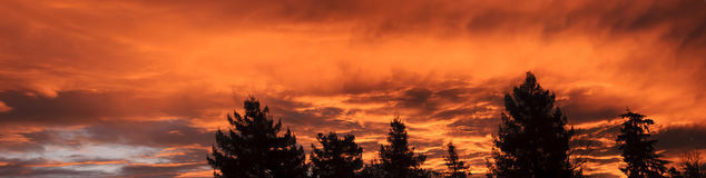 Pacific Northwest Sunrise Panoramic Stock Images