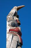 Pacific northwest totem pole royalty free stock photo