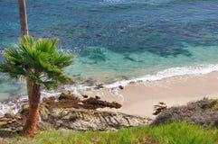 Pacific Ocean. Beautiful Beach on the Coast of California stock photo