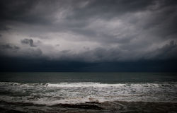 Pacific ocean. Great storn sky and ocean Stock Photo