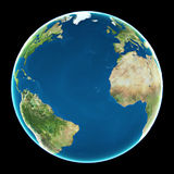The Pacific Ocean. Pacific Ocean on planet Earth, education illustration Stock Photos