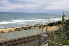 Pacific Ocean Beach at Del Mar, California Stock Photos