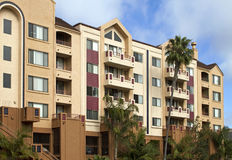 Pacific ocean beach hotels and condominiums Royalty Free Stock Photography
