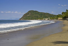 Pacific Ocean beach in Mexico royalty free stock images
