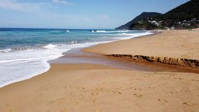 Pacific Ocean Beach, NSW South Coast, Australia stock footage
