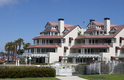 Pacific ocean beach vacation condominiums Royalty Free Stock Photography