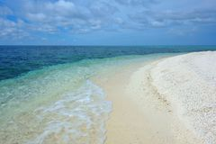 Pacific Ocean with Beach. White beach on the island of Camiguin, Philippines Stock Image
