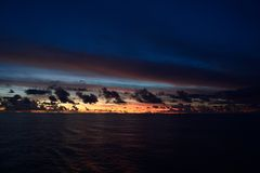 Pacific ocean. Beautiful sunrise in south pacific ocean Royalty Free Stock Photography