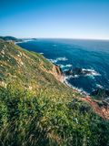 Pacific ocean big sur coatal beaches and landscapes Stock Photography