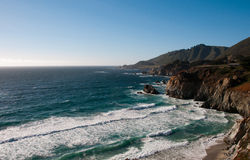 Pacific Ocean. Big Sur, driving back from SF to LA Stock Images