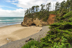 Pacific Ocean bluff with beach underneath Stock Photography