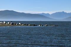 Pacific Ocean and Coast Mountains Stock Photos
