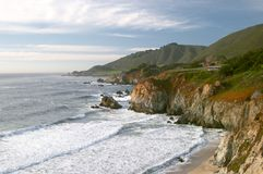 Pacific ocean coast near Big Sur Stock Images