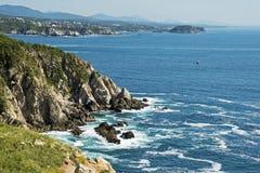 Pacific Ocean coast in Oaxaca royalty free stock photo