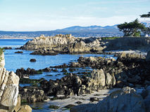Pacific Ocean coastline at Big Sur, California Stock Images