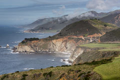 Pacific Ocean Coastline and Bixby Creek Bridge, Big Sur, Central Coast, California, USA stock photos