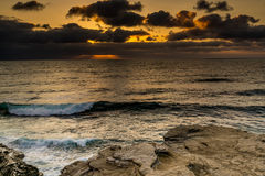 The Pacific Ocean Coastline in California Royalty Free Stock Photos
