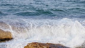 Pacific Ocean Crashing On The Rocks In South Korea royalty free stock photo