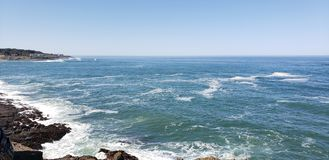 Pacific Ocean from Depoe Bay. Water royalty free stock images