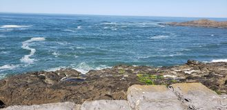 Pacific Ocean from Depoe Bay. Water stock photography
