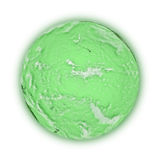 Pacific Ocean on green planet Earth Stock Image