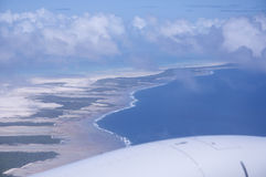 Pacific Ocean Island from Air Royalty Free Stock Photography