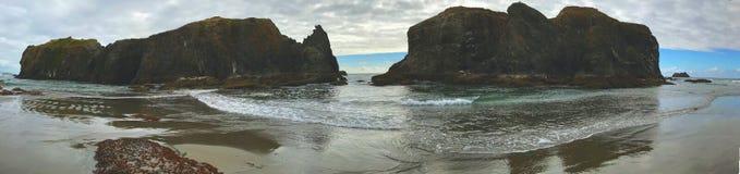 Pacific Ocean island views stock photo