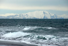 Pacific Ocean from Kamchatka peninsula Stock Photos