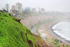 Pacific Ocean in Lima Stock Photography