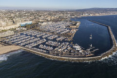 Pacific Ocean Marina Aerial Redondo Beach California Royalty Free Stock Photos
