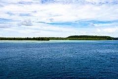 Pacific Ocean meets Rainforest, Solomon Islands Stock Image
