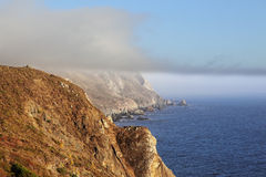 Pacific ocean  and  morning fog Royalty Free Stock Photos