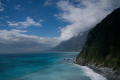 Pacific Ocean and mountains Stock Image