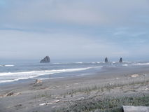 Pacific ocean of Northern California. Beach of Northern California coast Stock Photo