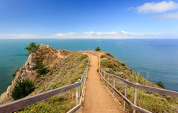 Pacific ocean park. Pathway to heavn on hte pacific ocean, northern california royalty free stock photo