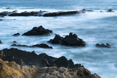 Pacific Ocean Cambria, California. Peace in Pacific Ocean in Cambria, California Stock Image