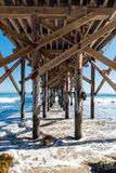 Pacific Ocean Pier Stock Photography