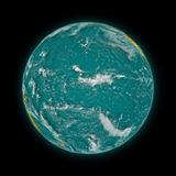 Pacific Ocean on planet Earth Stock Photo