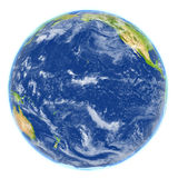 Pacific Ocean on planet Earth. Pacific Ocean. 3D illustration with detailed planet surface. Elements of this image furnished by NASA Stock Image
