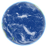 Pacific Ocean on planet Earth. Pacific Ocean. 3D illustration with detailed planet surface. Elements of this image furnished by NASA Stock Photos