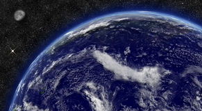 Pacific ocean on planet Earth Stock Image