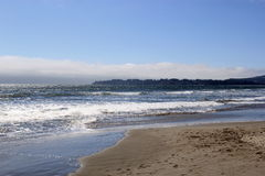 Pacific Ocean. A pretty day at Stinson Beach stock images