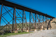 Pacific Ocean Railroad Tressel Royalty Free Stock Photography