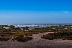 Pacific Ocean and the Samoa Dunes Stock Photo