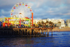 The Pacific Ocean. Santa Monica Pier. Royalty Free Stock Photo